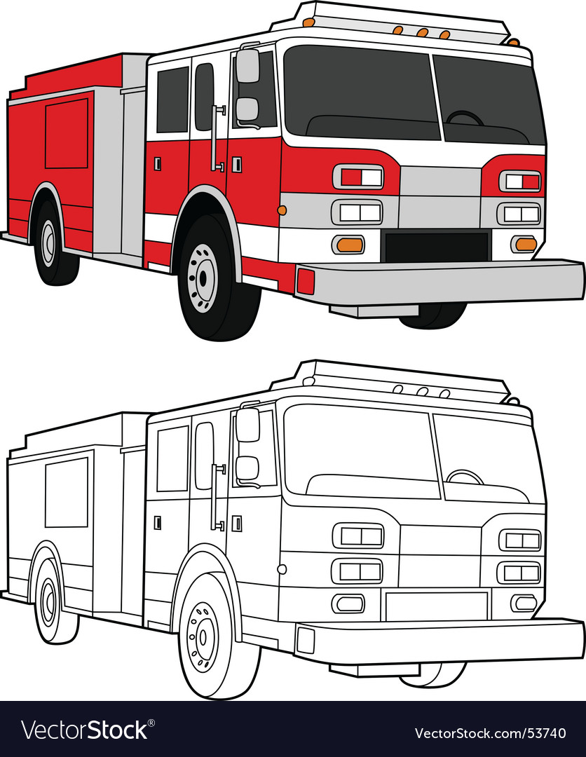 Fire engine vector | Price: 1 Credit (USD $1)
