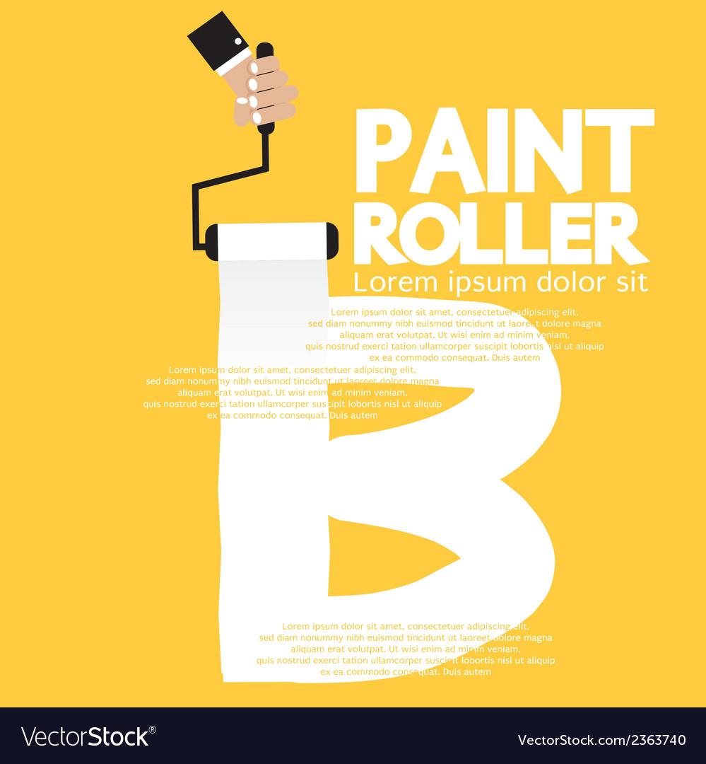 Paint roller alphabet b vector | Price: 1 Credit (USD $1)