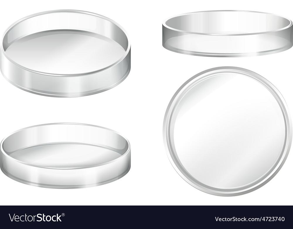 Petri dish vector | Price: 3 Credit (USD $3)
