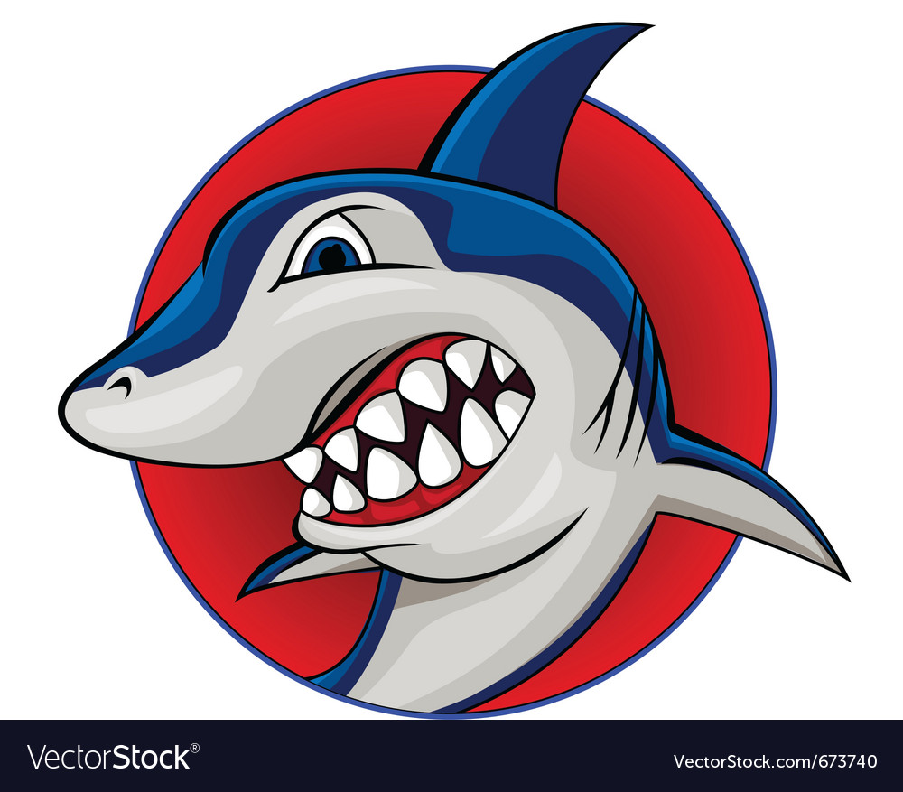 Shark mascot vector | Price: 1 Credit (USD $1)