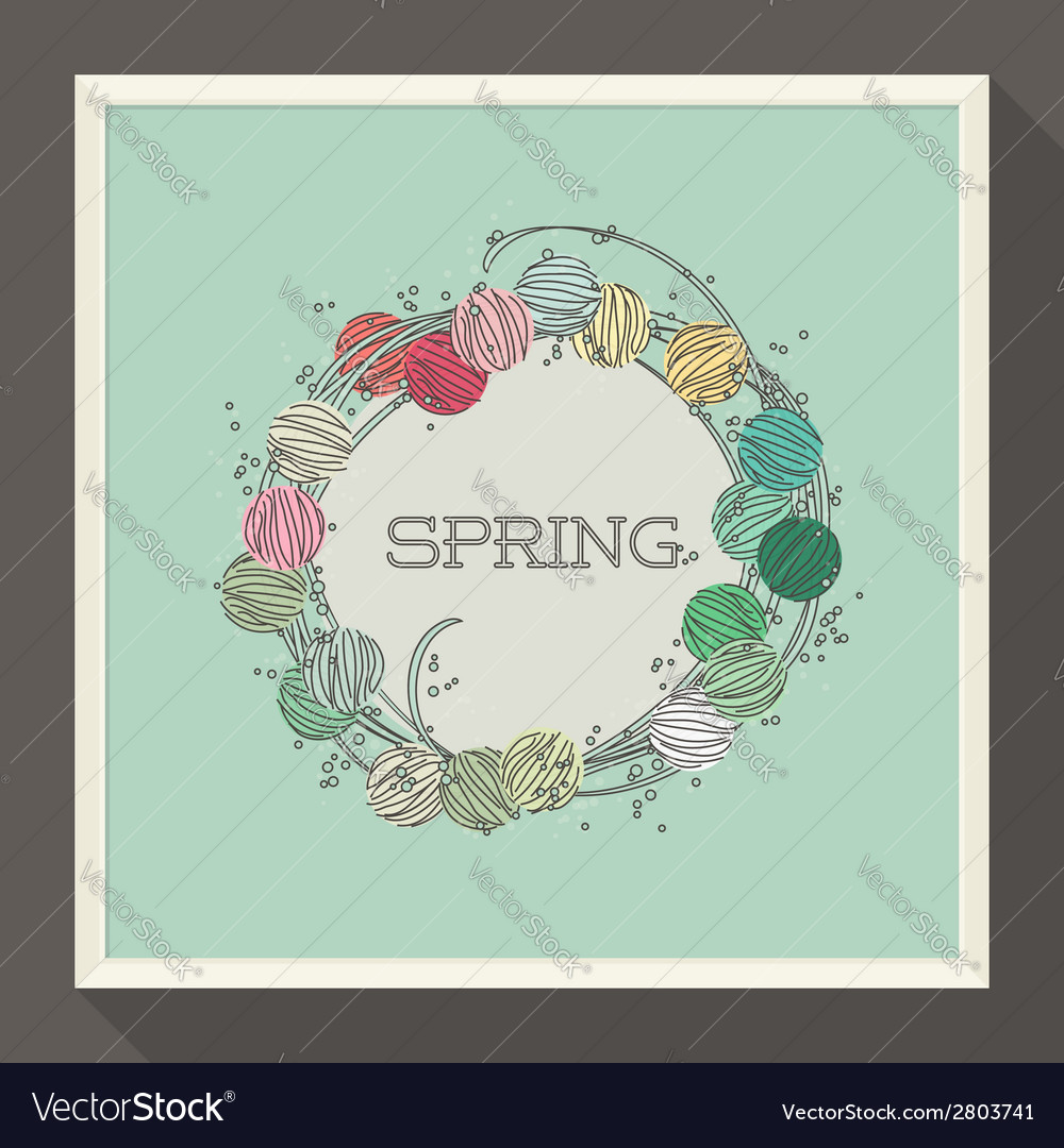 Abstract spring design with pastel colored beads vector | Price: 1 Credit (USD $1)