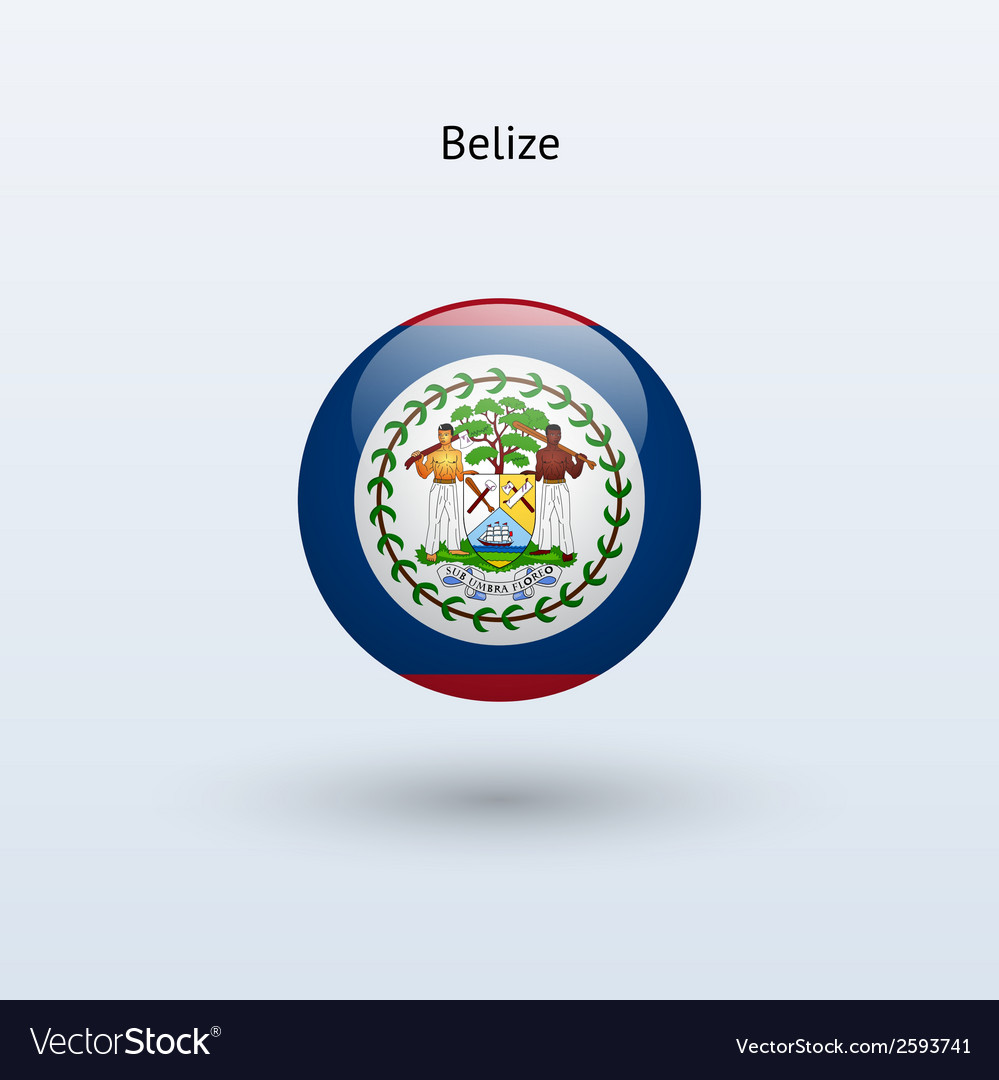 Belize round flag vector | Price: 1 Credit (USD $1)
