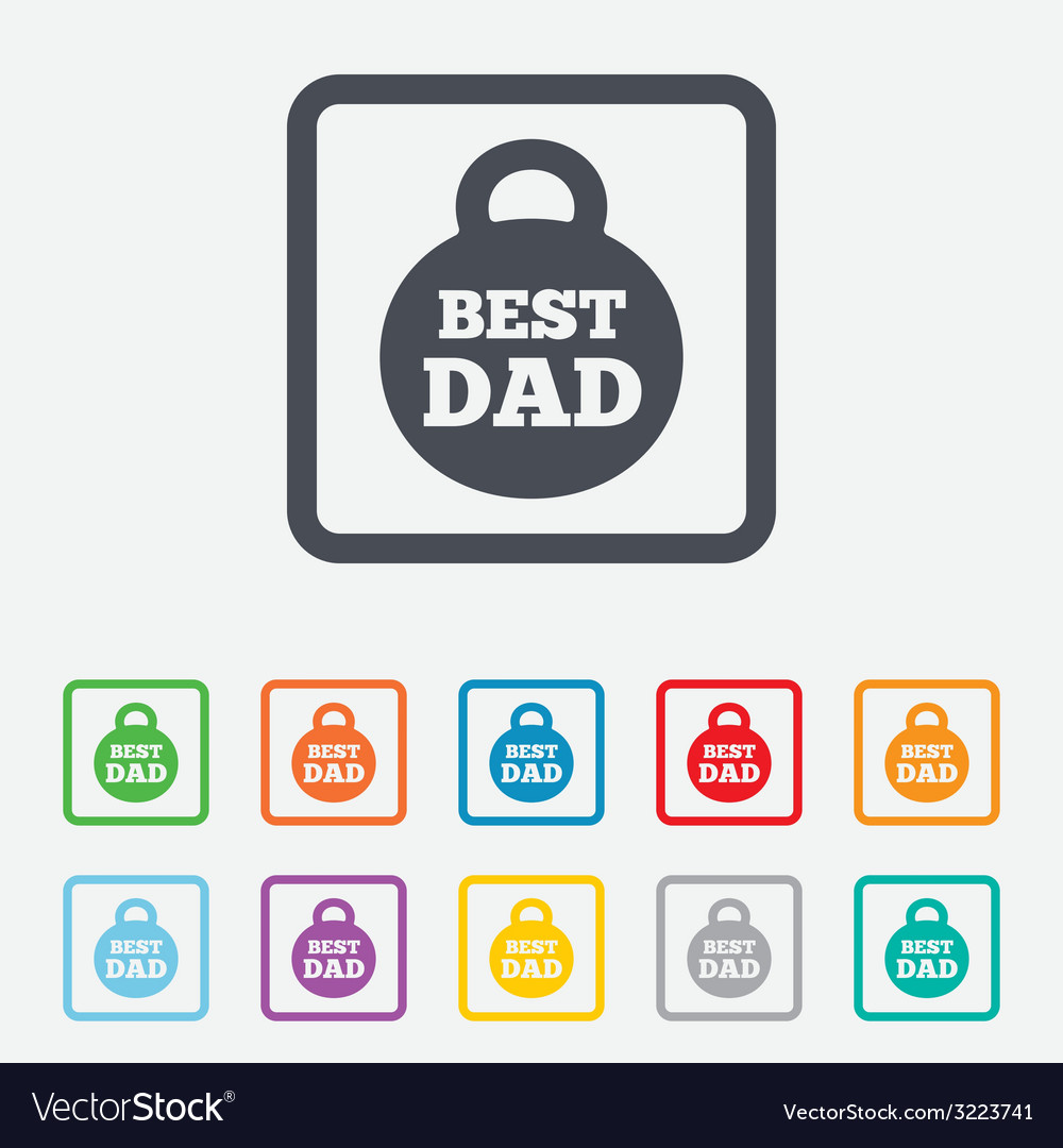 Best dad sign icon award weight symbol vector | Price: 1 Credit (USD $1)