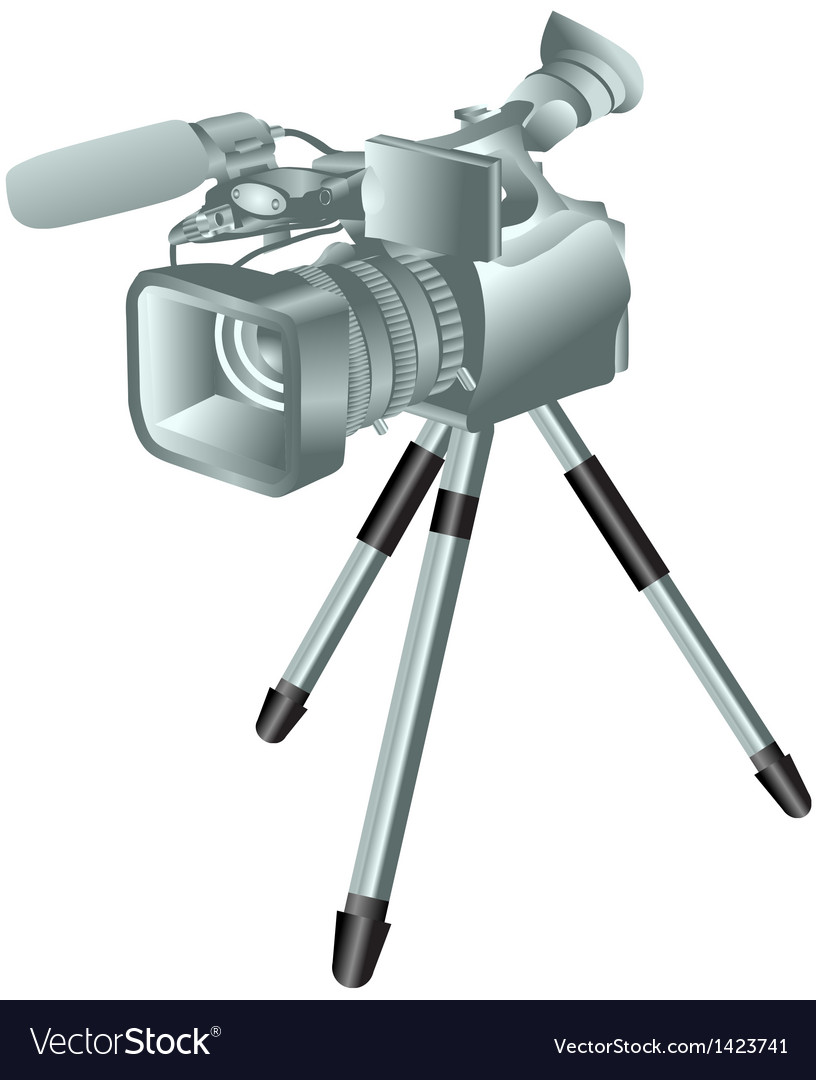 Camcorder on a tripod vector | Price: 1 Credit (USD $1)