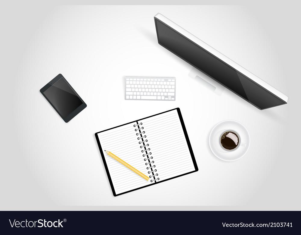 Creative workspace vector | Price: 1 Credit (USD $1)