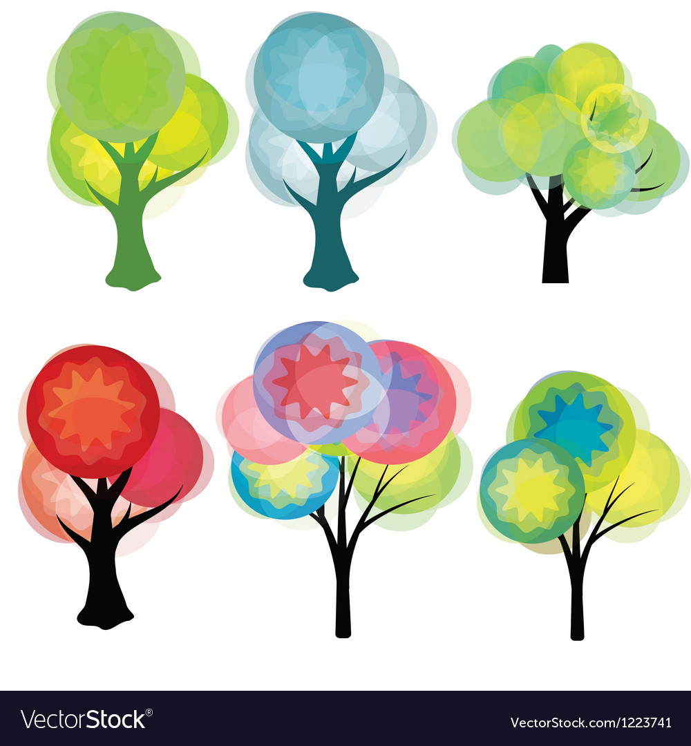 Fantasy trees vector | Price: 1 Credit (USD $1)