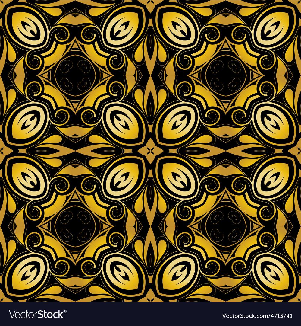 Golden ornamental background on black vector   Price: 1 Credit (USD $1)