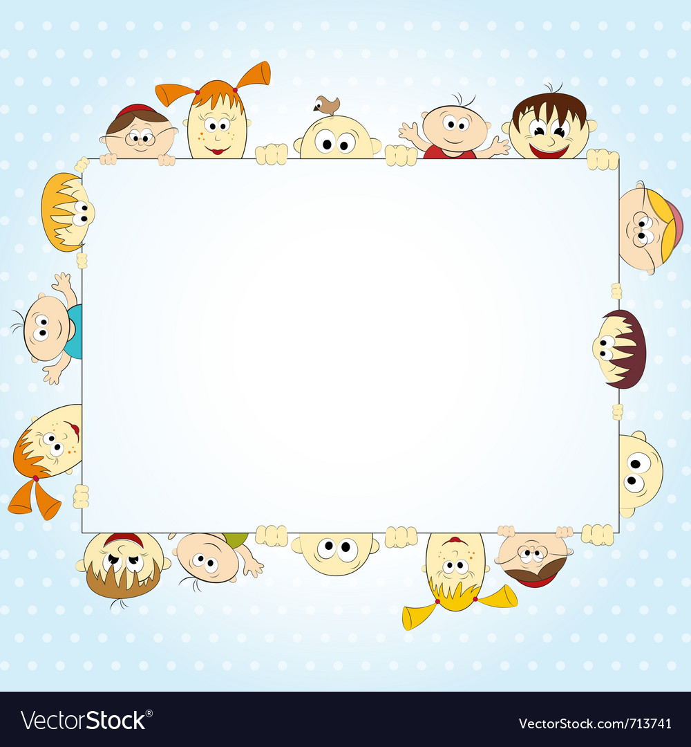 Group of happy people holding empty banner - vector | Price: 1 Credit (USD $1)