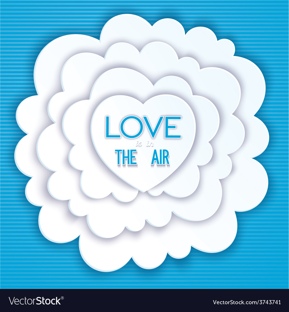 Heart in the clouds love is in the air vector   Price: 1 Credit (USD $1)