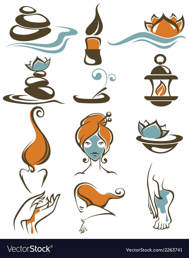 Large spa collection vector | Price: 1 Credit (USD $1)