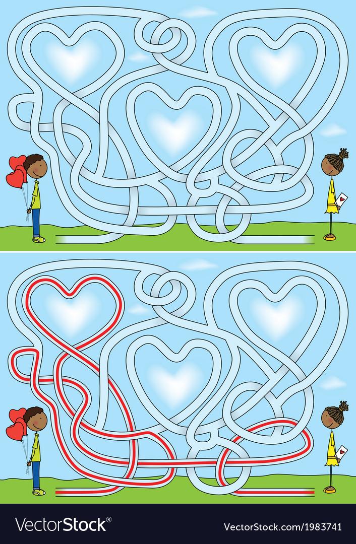 Love maze vector | Price: 1 Credit (USD $1)