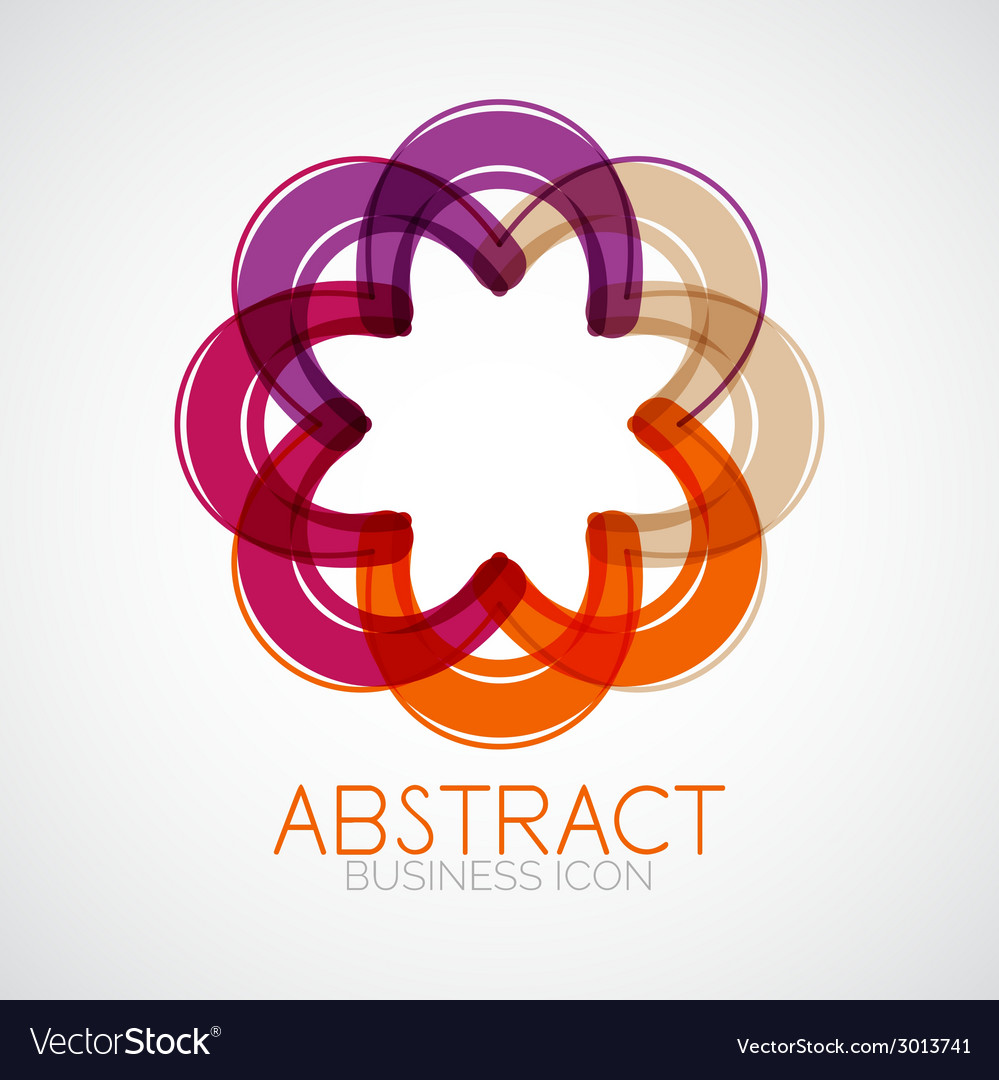 Symmetric abstract geometric shape vector | Price: 1 Credit (USD $1)