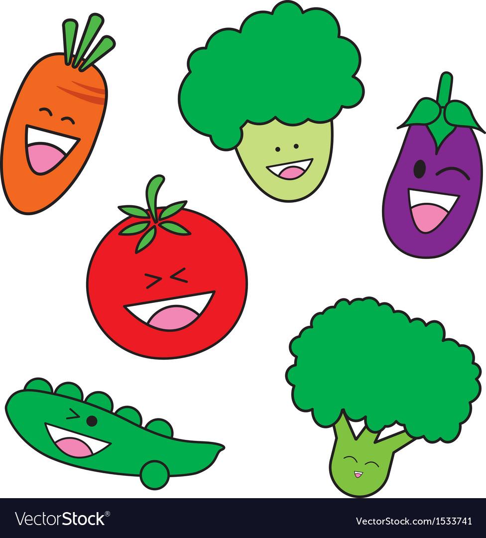Vegetable cartoon vector | Price: 1 Credit (USD $1)