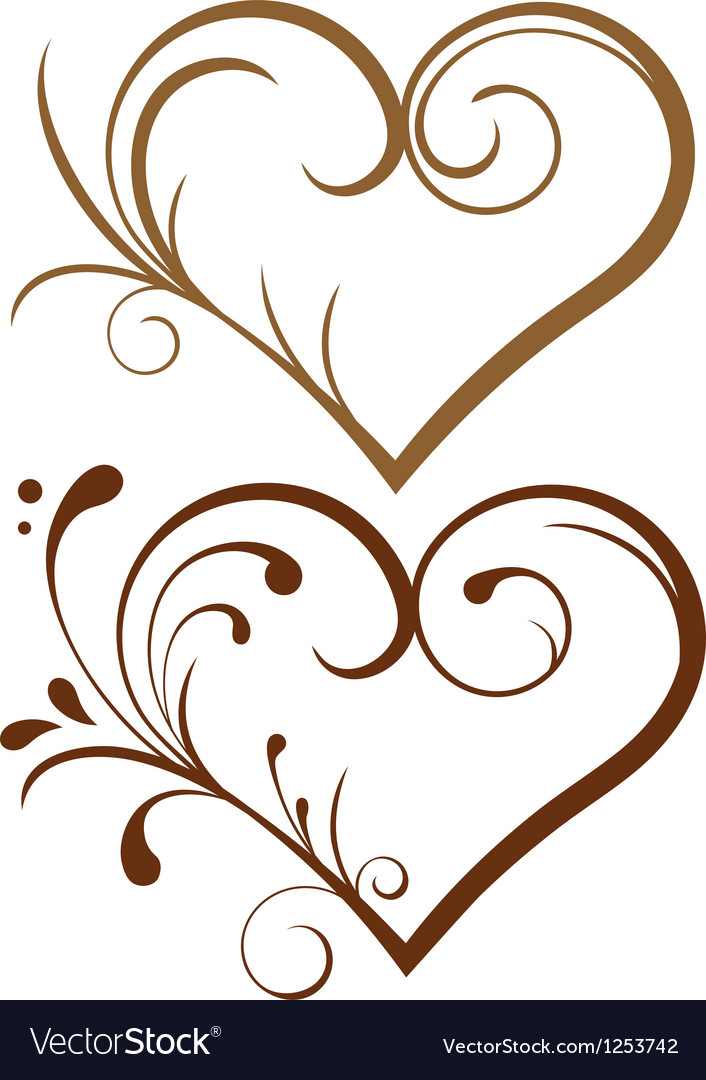 1543 lace heart vector | Price: 1 Credit (USD $1)