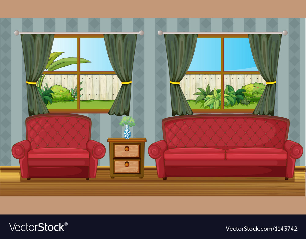 A sofaset and side table vector | Price: 1 Credit (USD $1)