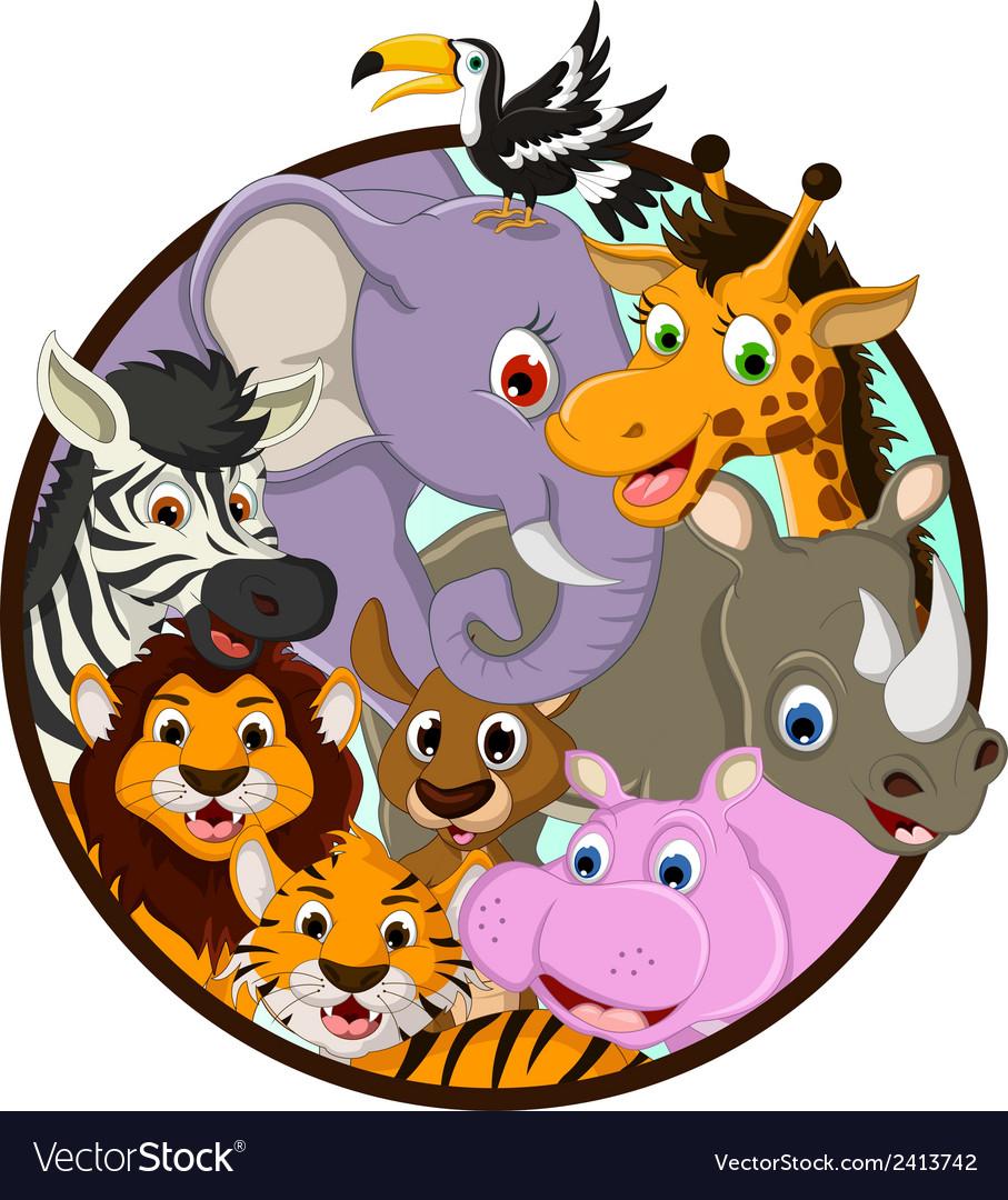 Cute animal wildlife cartoon vector | Price: 1 Credit (USD $1)