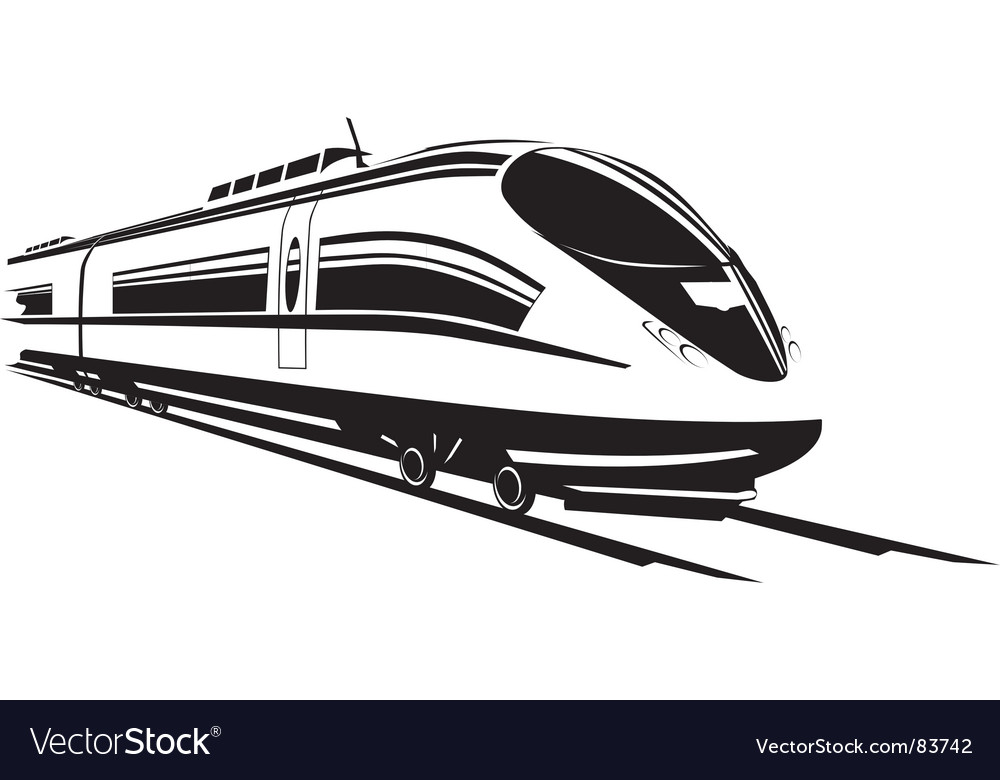 Fast train vector | Price: 1 Credit (USD $1)
