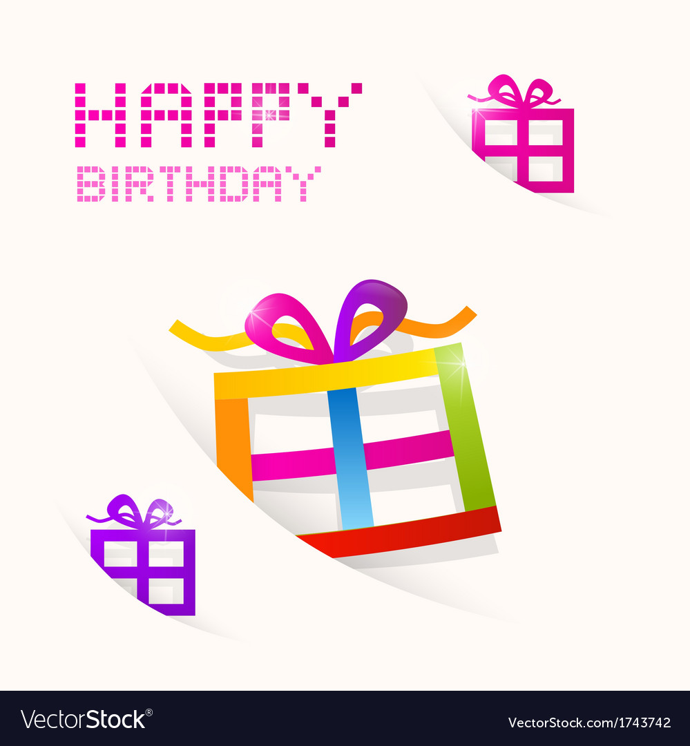 Happy birthday theme vector | Price: 1 Credit (USD $1)