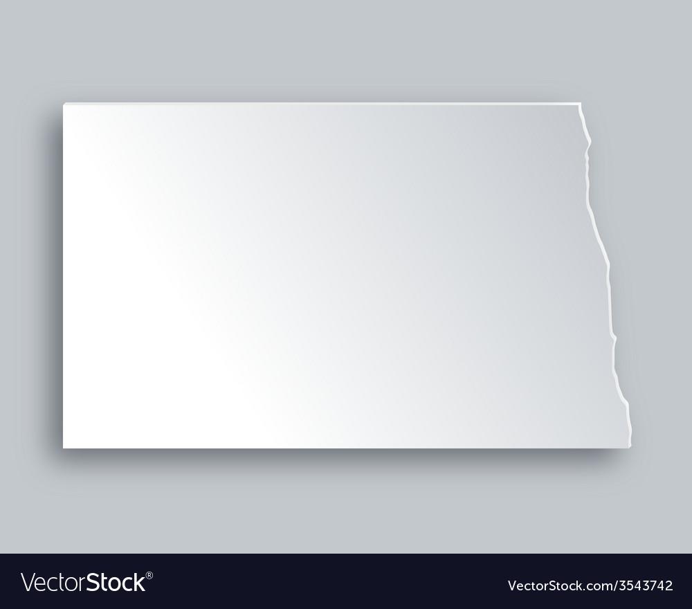 Map of north dakota vector   Price: 1 Credit (USD $1)