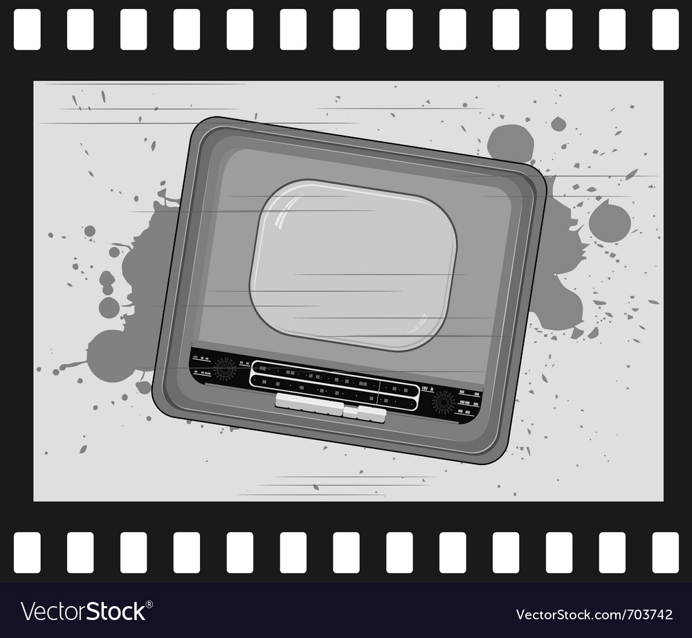 Old frame with old tv vector | Price: 1 Credit (USD $1)