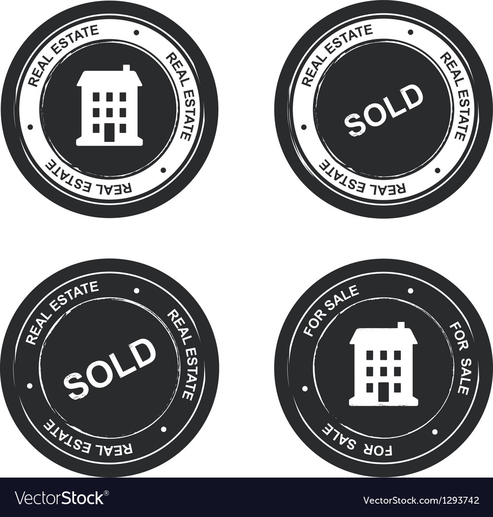 Set of real estate stamp vector | Price: 1 Credit (USD $1)
