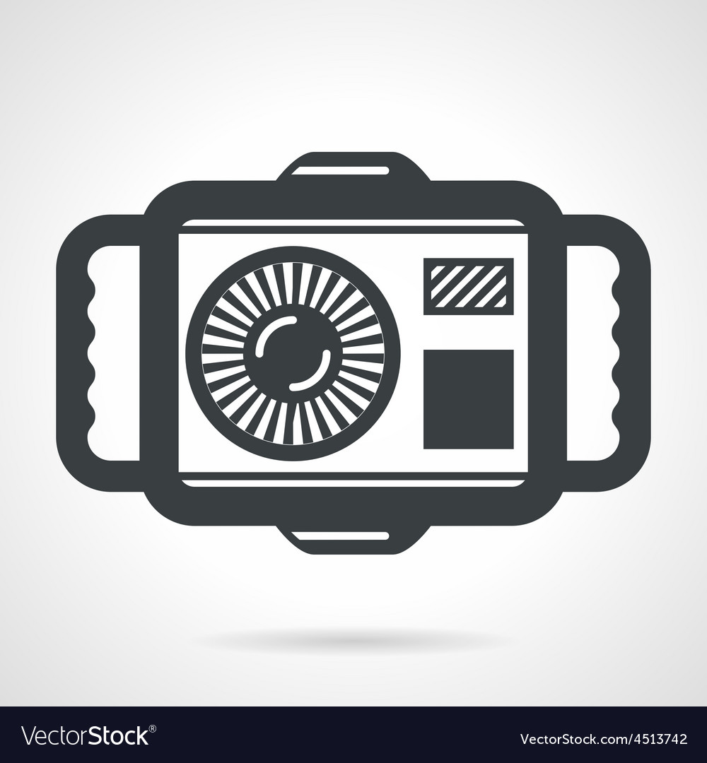 Underwater camera flat icon vector | Price: 1 Credit (USD $1)