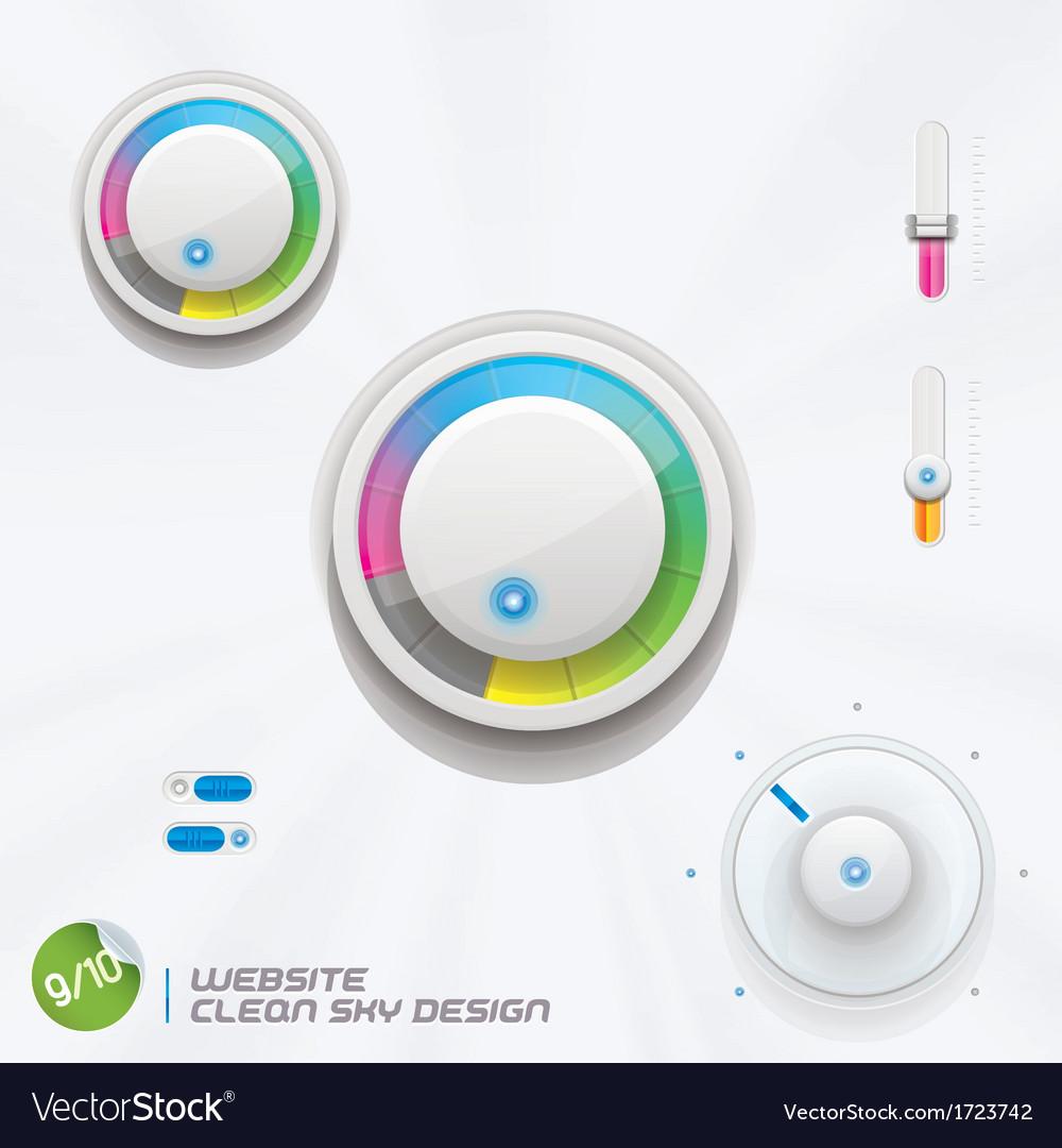 Website clean sky design vector   Price: 1 Credit (USD $1)