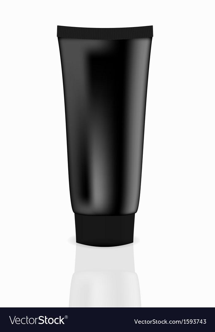 Black cream tube vector   Price: 1 Credit (USD $1)