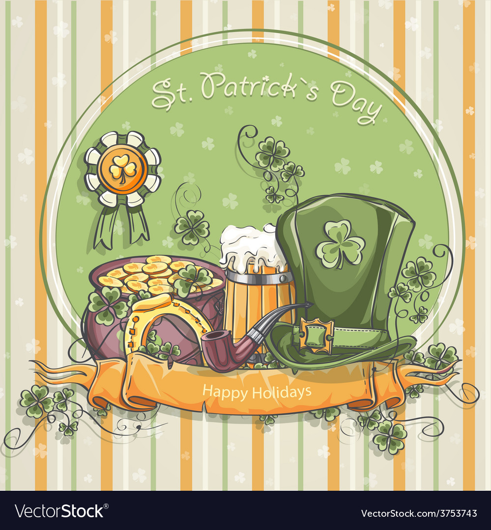Greeting card for st patricks day vector | Price: 1 Credit (USD $1)