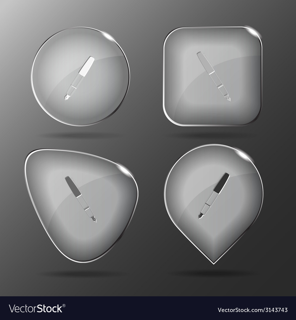 Ink pen glass buttons vector | Price: 1 Credit (USD $1)