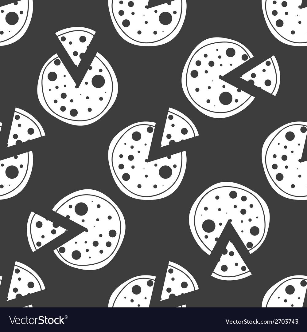 Pizza web icon flat design seamless gray pattern vector   Price: 1 Credit (USD $1)