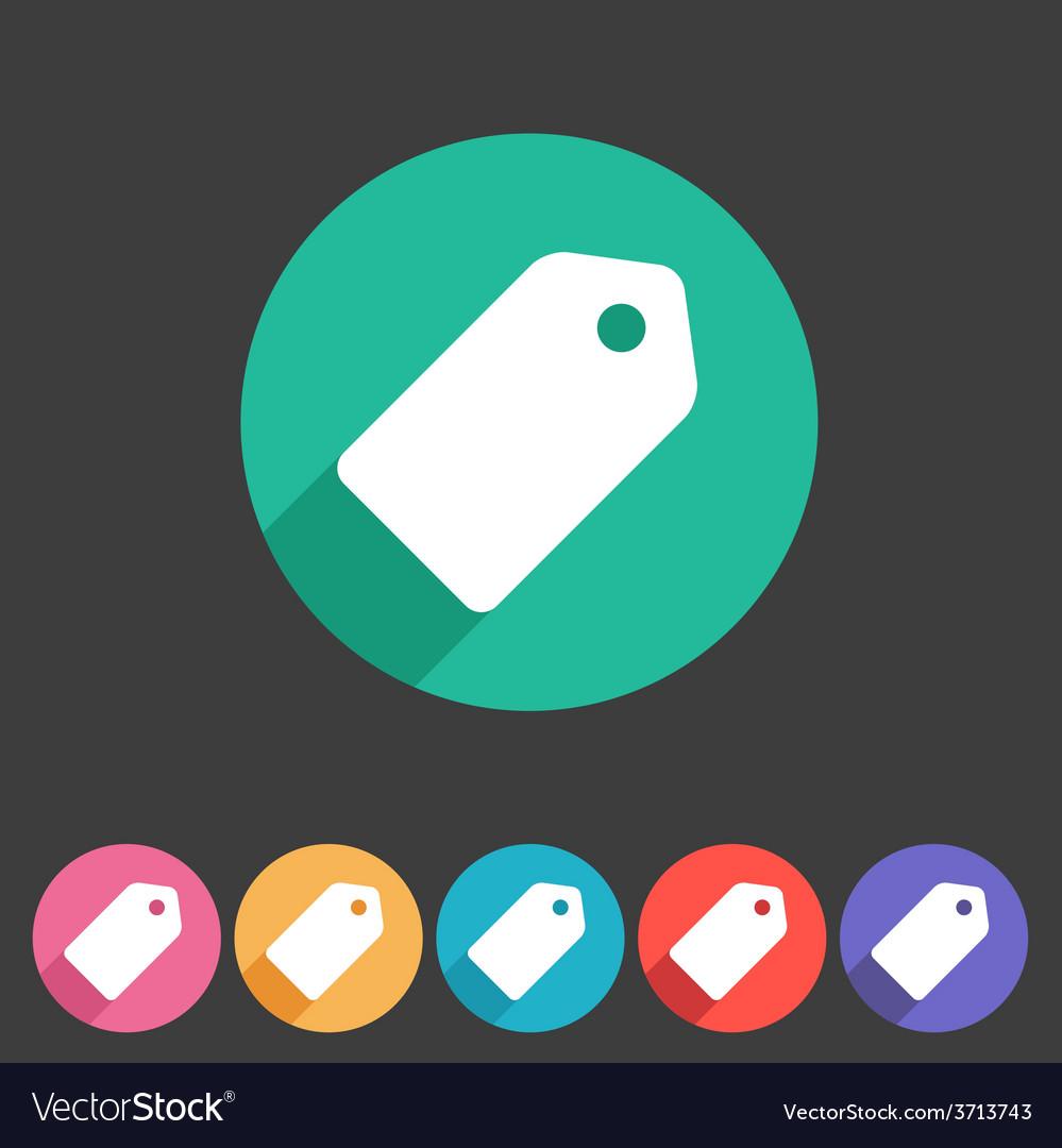 Price tag flat icon label vector | Price: 1 Credit (USD $1)