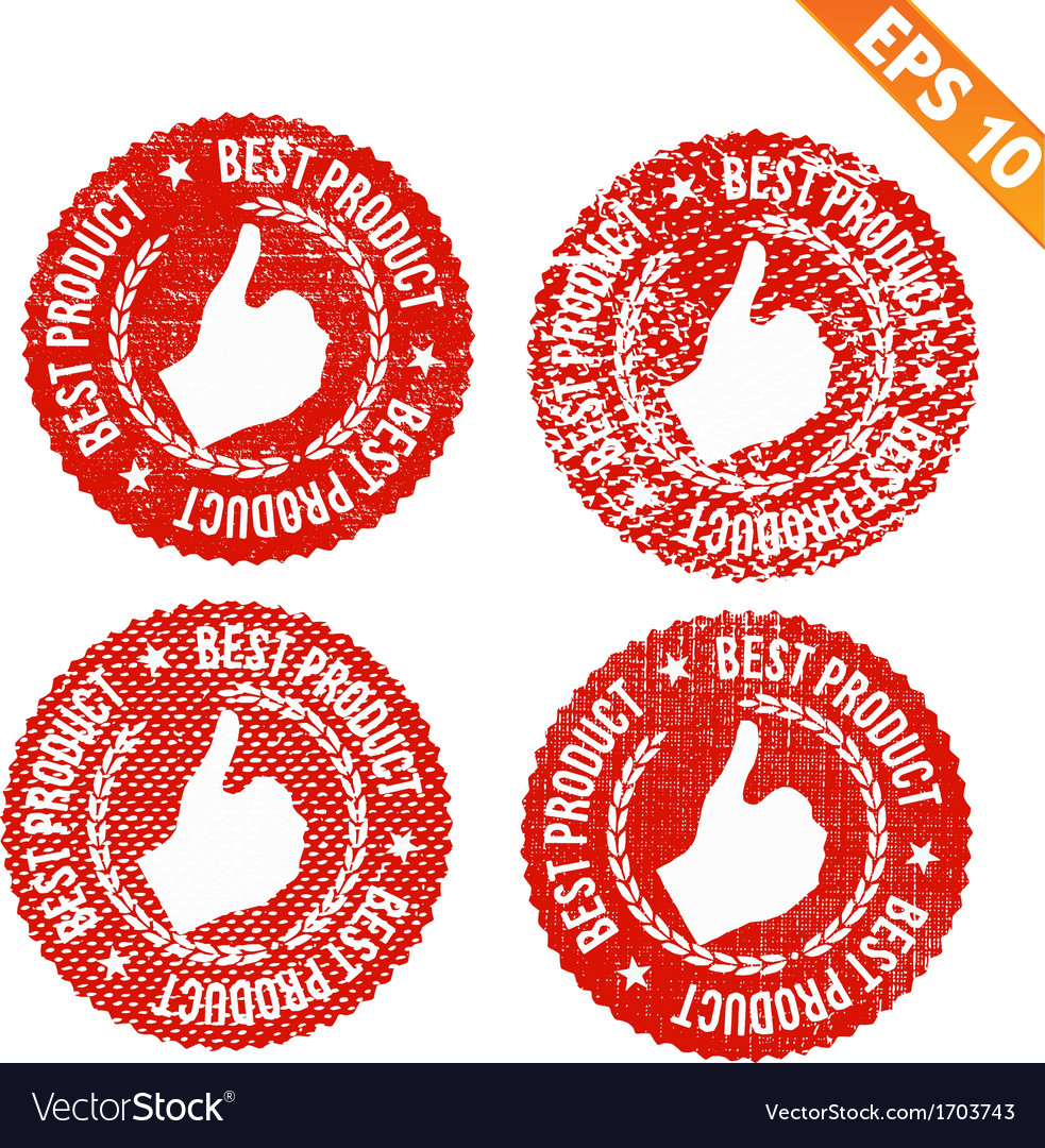 Rubber stamp best product - - eps10 vector | Price: 1 Credit (USD $1)
