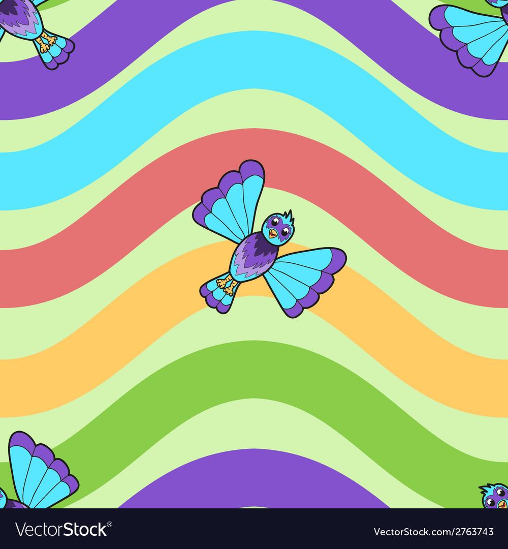 Seamless pattern of fantastic bluebird vector   Price: 1 Credit (USD $1)