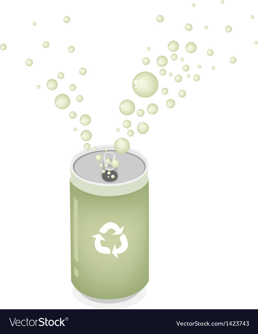 Soda can with recycle symbol for save the world vector | Price: 1 Credit (USD $1)