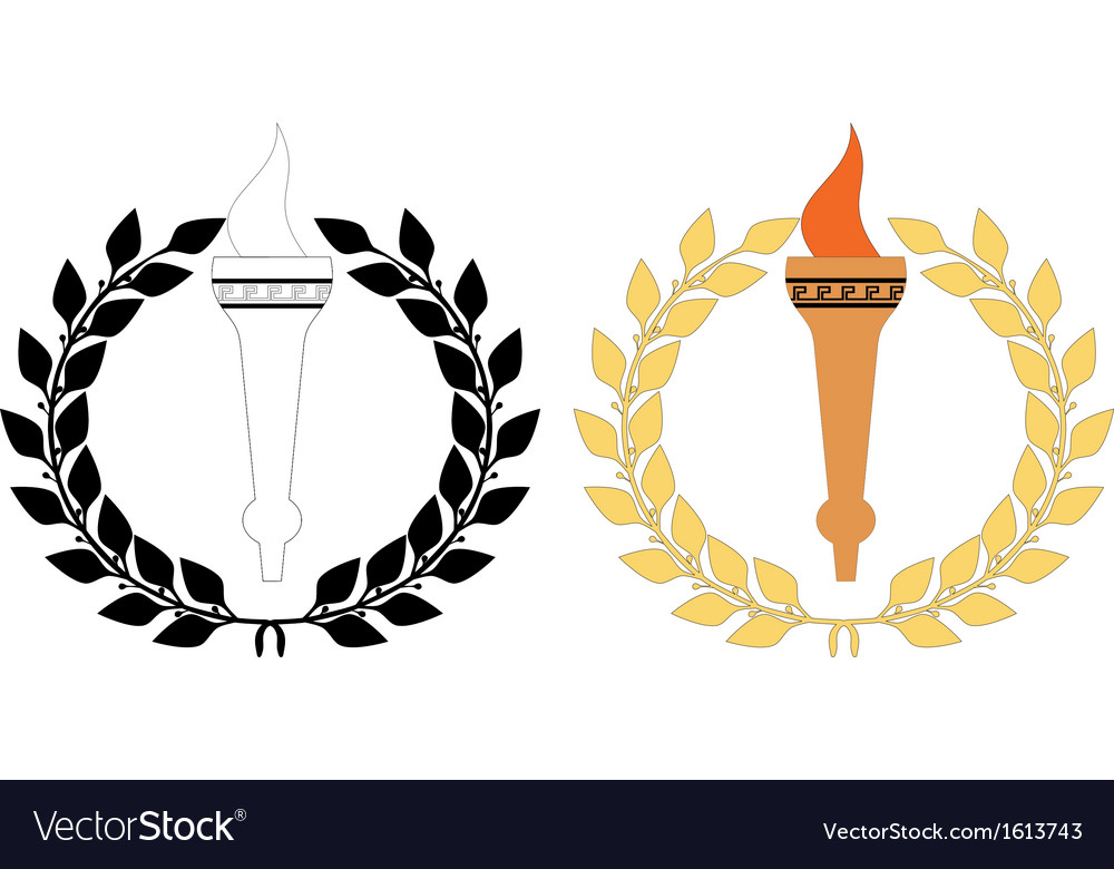 Torch n wreath vector | Price: 1 Credit (USD $1)