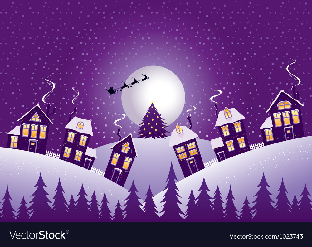 Violet christmas night vector | Price: 3 Credit (USD $3)
