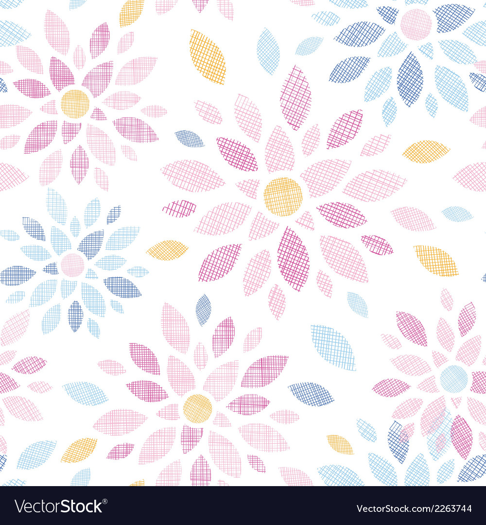 Abstract textile colorful flowers seamless pattern vector | Price: 1 Credit (USD $1)