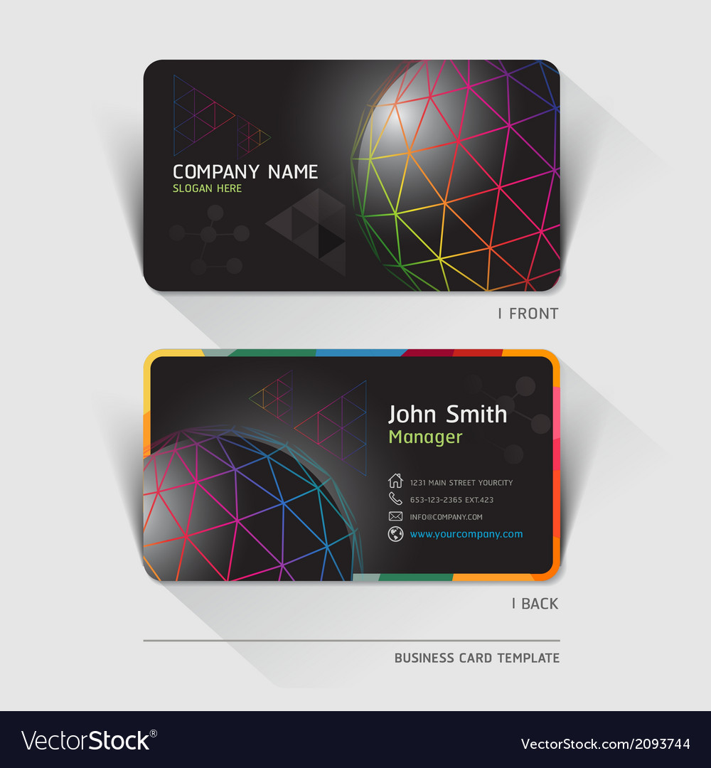 Business card technology background vector | Price: 1 Credit (USD $1)