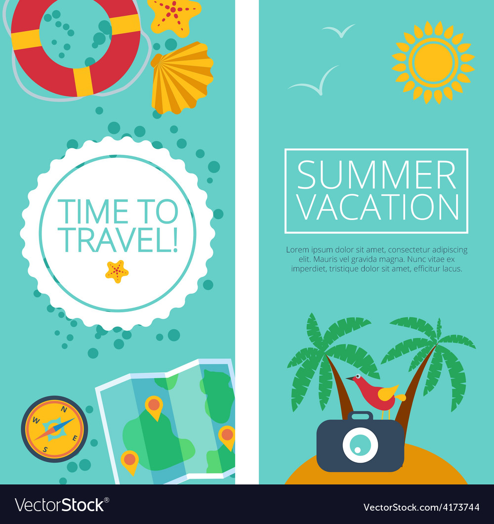 Concepts and banners of travel summer vector | Price: 1 Credit (USD $1)