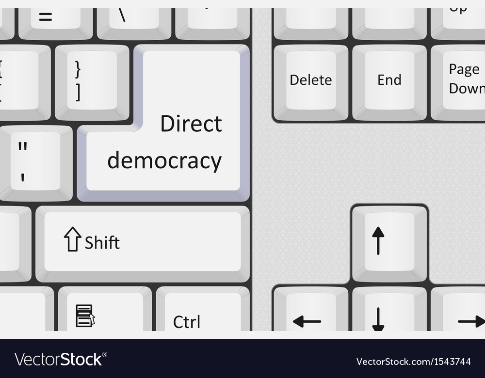 Direct democracy vector | Price: 1 Credit (USD $1)