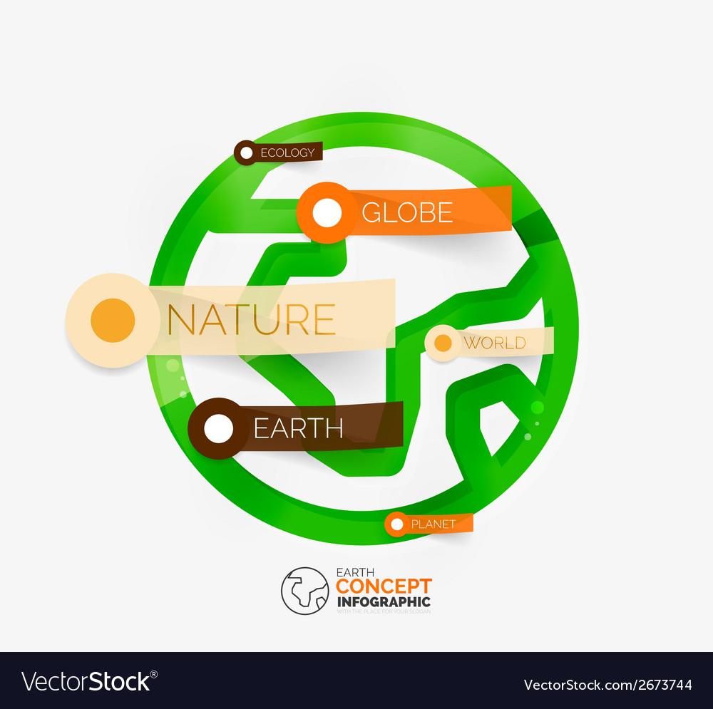 Eco earth globe infographic concept vector | Price: 1 Credit (USD $1)