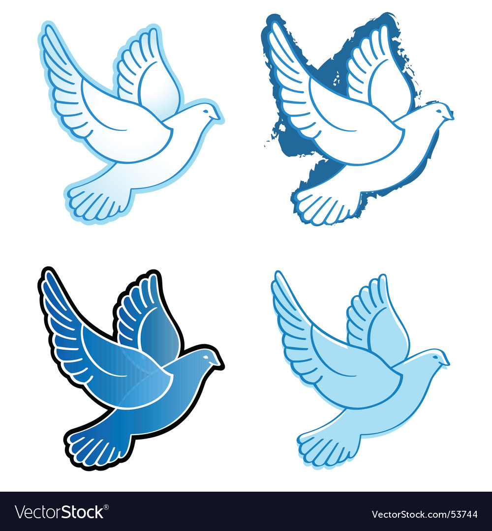 Flying doves vector | Price: 1 Credit (USD $1)
