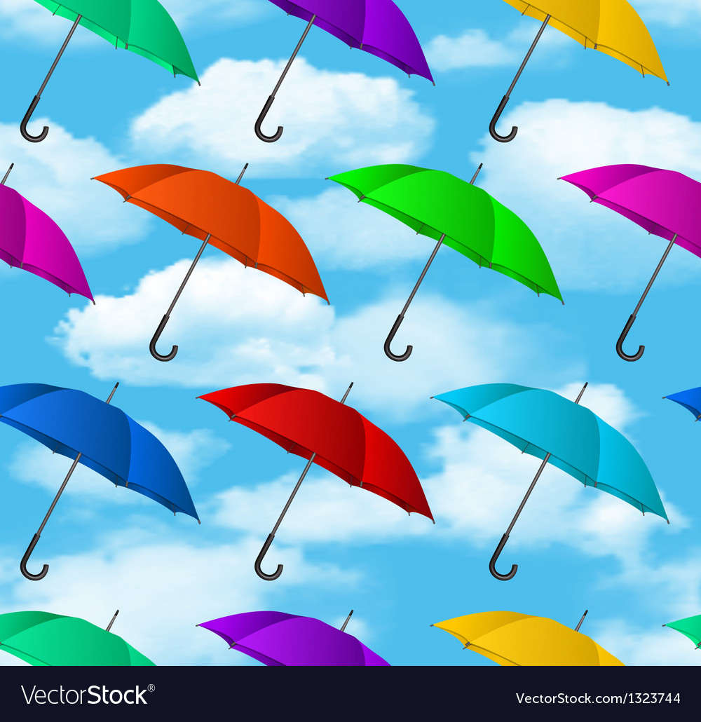Seamless colorful umbrellas background vector | Price: 3 Credit (USD $3)