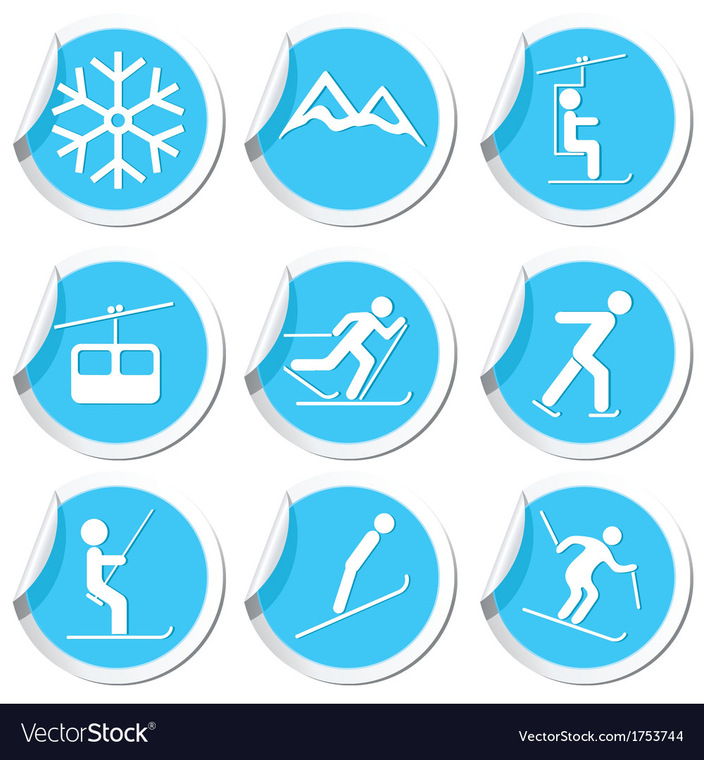 Winter sport icons9 vector | Price: 1 Credit (USD $1)
