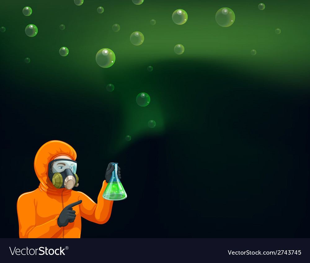 A chemist holding a cylinder with chemicals vector | Price: 1 Credit (USD $1)
