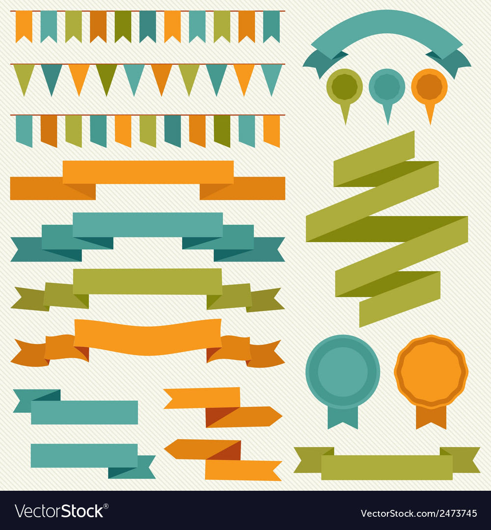 Collection of decorative design elements vector | Price: 1 Credit (USD $1)