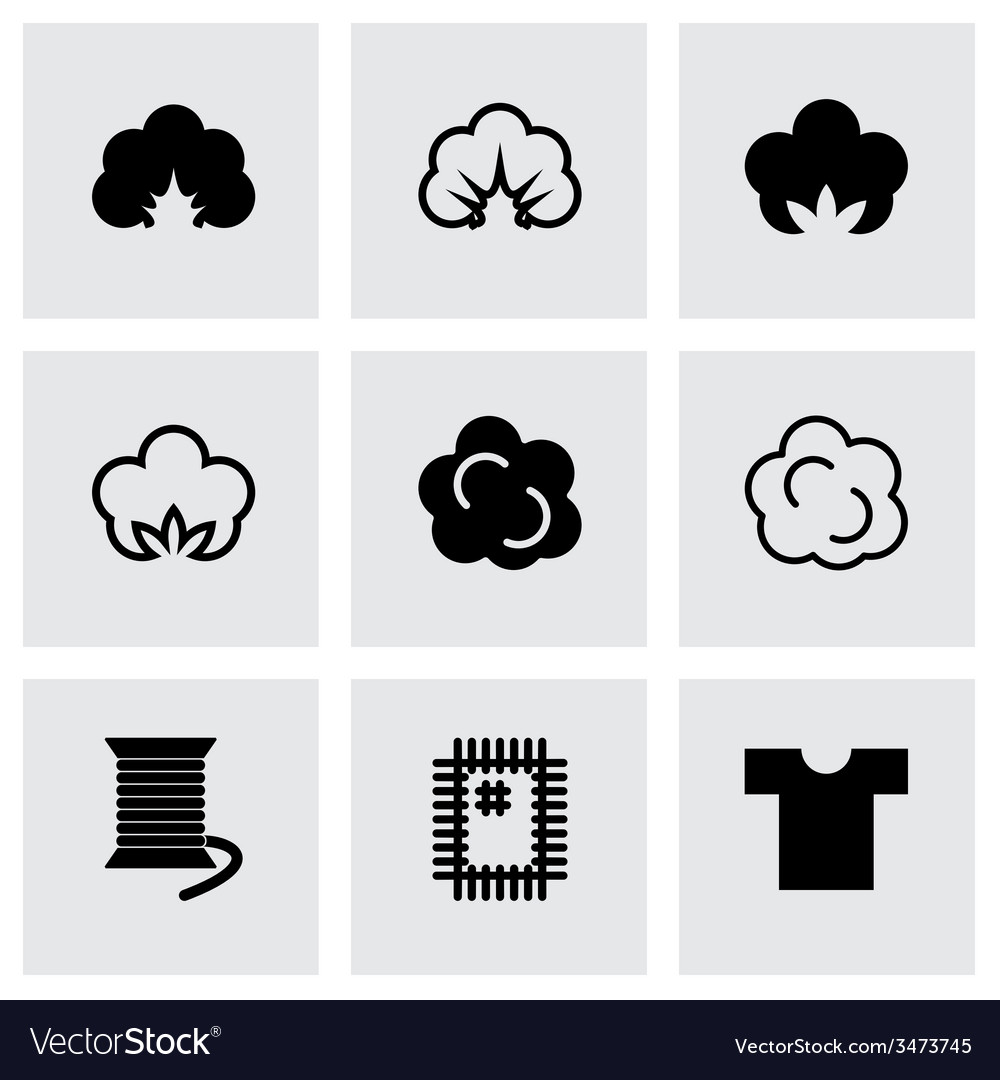 Cotton icon set vector | Price: 1 Credit (USD $1)