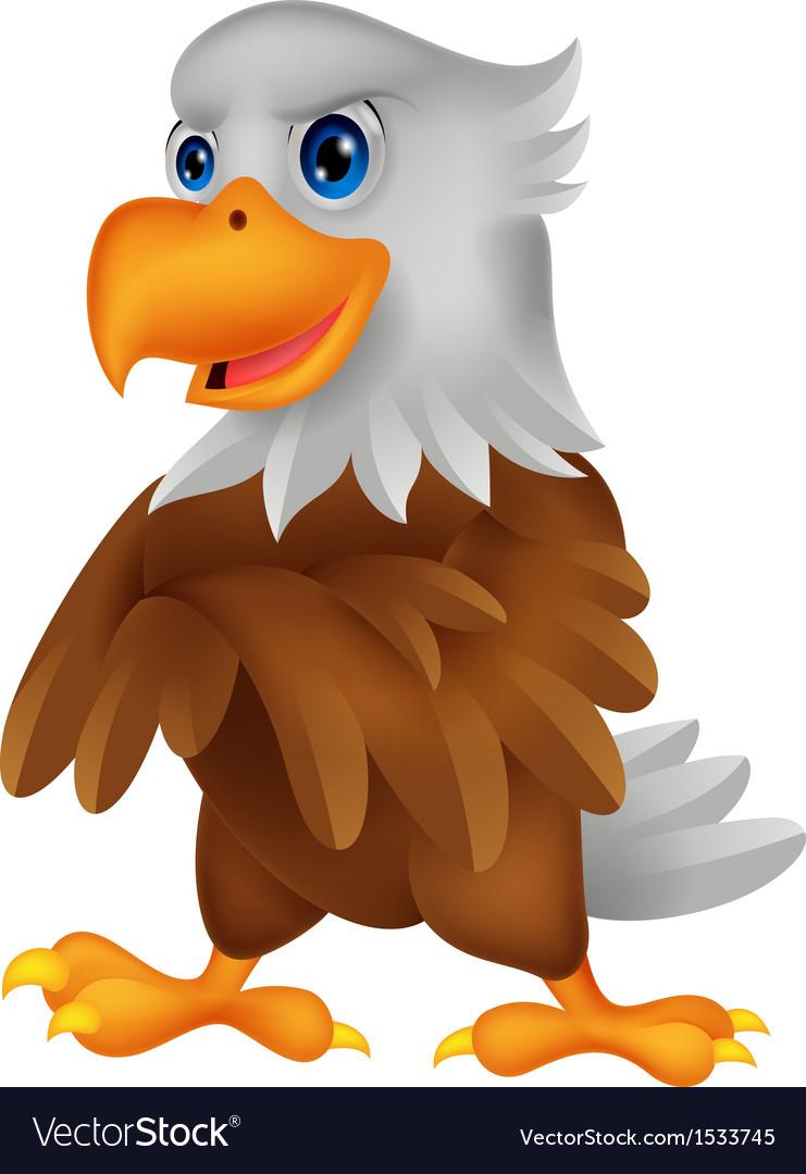 Cute eagle cartoon posing vector | Price: 1 Credit (USD $1)
