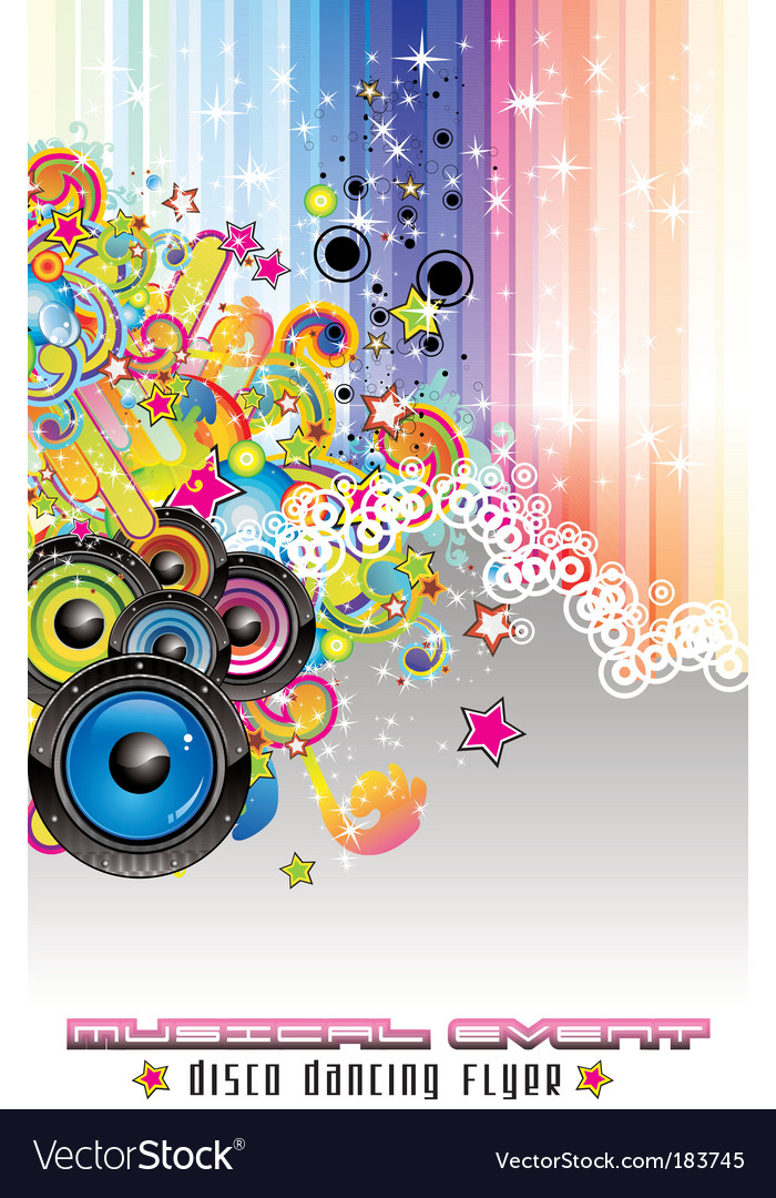Disco dance backgound vector | Price: 3 Credit (USD $3)